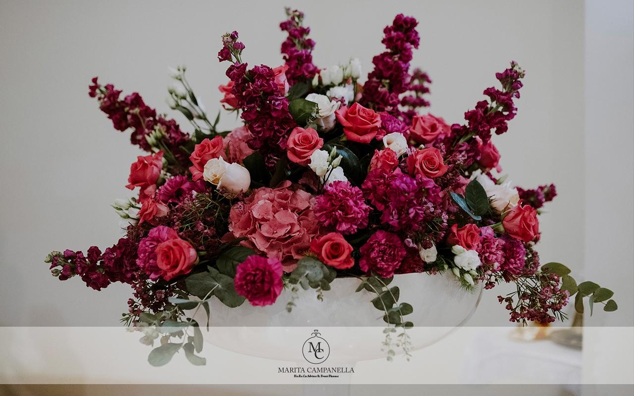 matrimonio stile inglese allestimento chiesa fiori