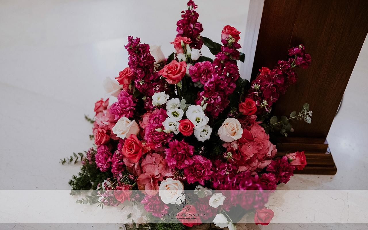 matrimonio stile inglese fiori chiesa