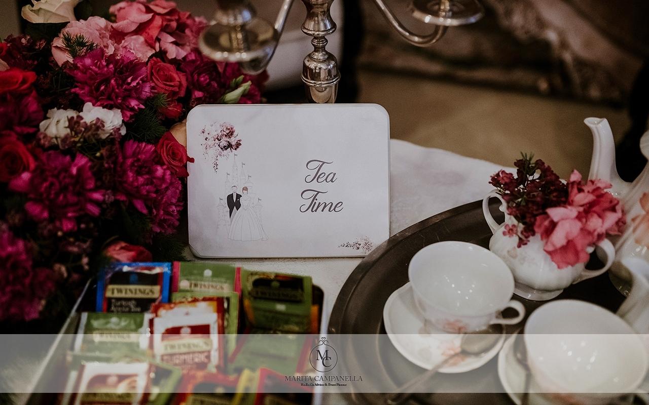 matrimonio stile inglese sala tè
