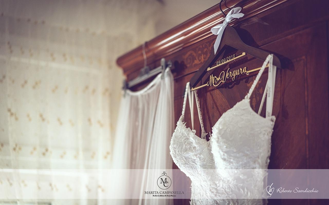 matrimonio tema viaggio abito da sposa