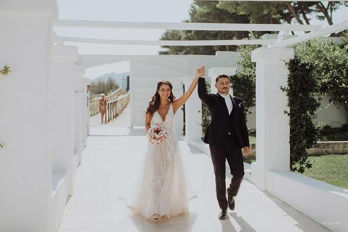 matrimonio antonio e annarosa arrivo degli sposi