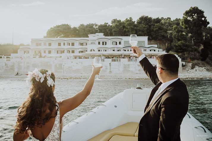 matrimonio antonio e annarosa brindisi in barca