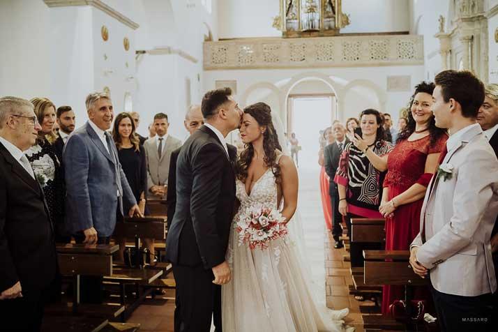 matrimonio antonio e annarosa in chiesa
