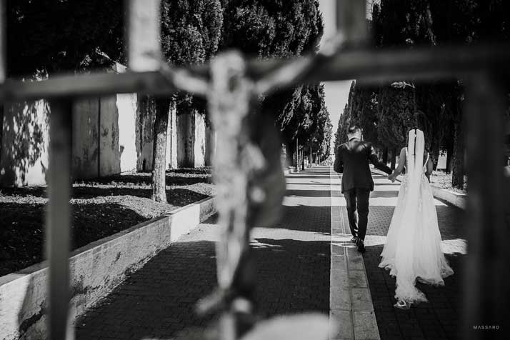 matrimonio antonio e annarosa passeggiata sposi