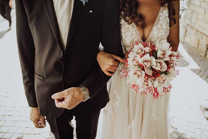 matrimonio antonio e annarosa sposa con padre