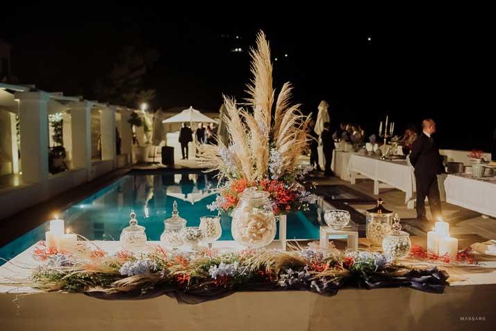 matrimonio antonio e annarosa tavolo con confettata