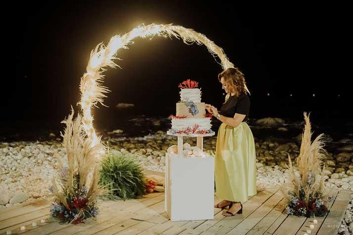 matrimonio antonio e annarosa torta nuziale e marita campanella
